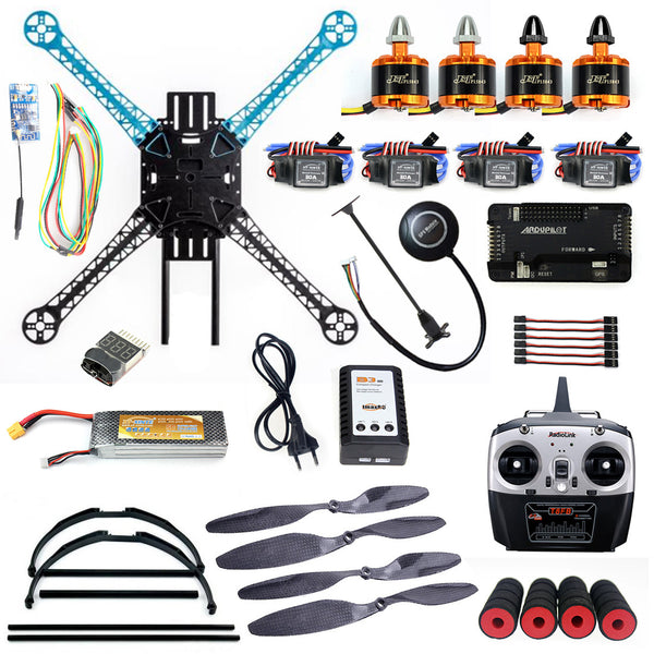 QWinOut S500 PCB DIY RTF Kit 2.4GHz 4CH RC Drone 500mm Wheelbase with APM 2.8 Flight Control Wireless WiFi Transmission Headless Mode Quadcopter
