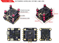 LDARC KK F4+OSD 2 Layer 3 Layer KK Tower 12A 20A BLHELI-S 4in1 ESC For FPV Racing Drone RC Racer