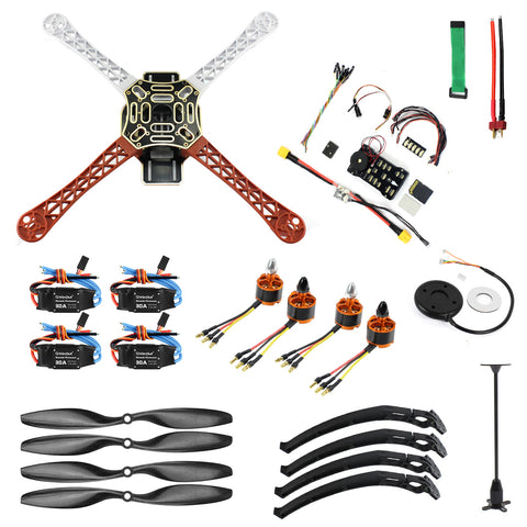 QWinOut DIY FPV Drone Quadcopter 4-axle Aircraft Kit :F450 450 Frame + PXI PX4 Flight Control + 920KV Motor + GPS + 1043 Propes + 30A ESC