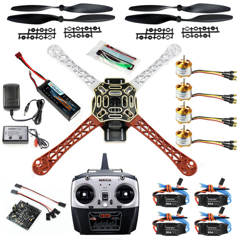 Clearance QWinOut DIY 2.4G 8CH KK V2.3 F450 Frame RC Quadcopter 4-Axle UFO Unassembly Kit RTF/ARF Basic Drone