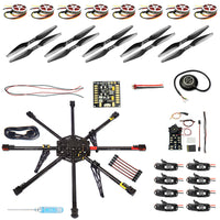 QwinOut IRON MAN 1000 DIY 8-Axle Unassembled RC Drone 1000mm Carbon Octocopter PX4 PIX M8N GPS RC Drone PNF Kit No Remote Battery FPV
