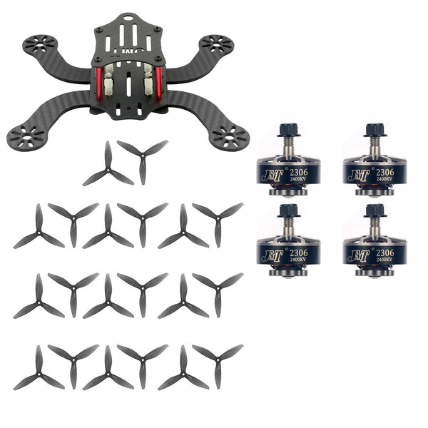 JMT J194 Carbon Fiber 194mm Frame Kit with 2306-2400kv 3-4S Motors & 4032 4inch Propeller for DIY Freestyle Mini FPV Racing Aircraft