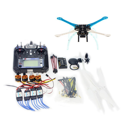 QWinOut DIY GPS Drone Multi-Rotor Frame Kit S500 PCB APM2.8 Flysky 2.4G FS-i6 Transmitter Motor ESC NO Battery Charger