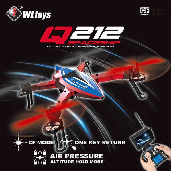 Clearance Wltoys Q212-G 2.4Ghz RC Drone CF Mode One Key Return 3D Roll FPV UAV RC Quadcopter RTF With 720P HD Camera Support WIFI