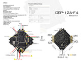 GEPRC GEP-12A-F4 STM32F411 F4 Flight Controller &12A ESC Support 2~4S Battery for Tiny Indoor Quad FPV Racing Micro Drone