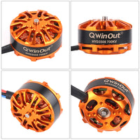 QWinOut DIY FPV Drone W/ AT9S TX RX S600 4 axle Quadcopter APM 2.8 Flight Control GPS 7M 40A ESC 700kv Motor 4400MAH Battery Full Set