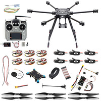 QWinOut ZD850 DIY Drone Kit with Landing Gear PIX Flight Controller 620KV Motor 40A Brushless ESC Propellers XT60 Plug Power Hub for RC 6-axle Hexacopter UFO Drone