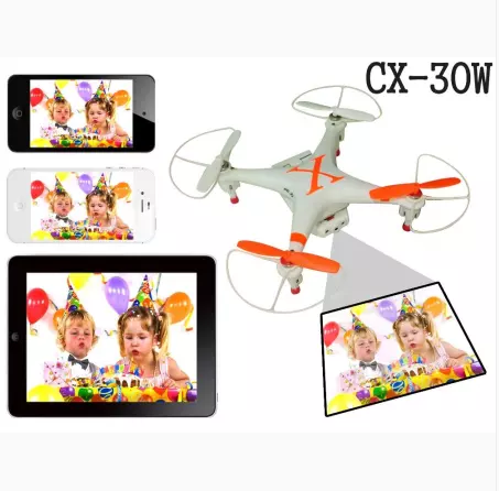 Clearance CX-30w 4CH Wifi Real Time Video RC Quadcopter 6 Axis Gyro Camera 360 Rotating RTF Drone Cheerson