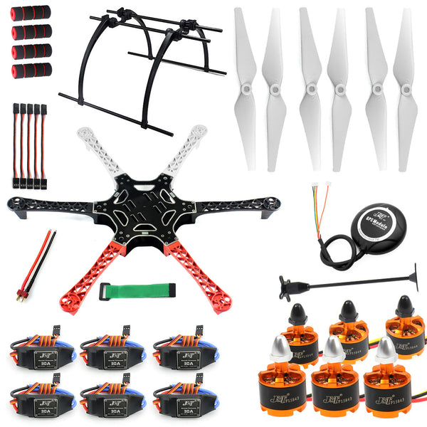 QWinOut DIY RC Drone MultiCopter 6-axle Aircraft Kit F550 Hexa-Rotor Air Frame GPS APM2.8 Flight Control No Battery No TX/RX