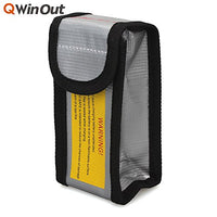 QWinOut RC LiPo Battery Safe Bag Fireproof Safety Guard Charging Sack 12.5x6.4x5cm