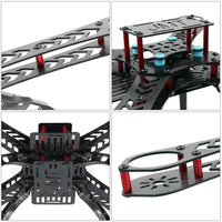 QWinOut X4 310 mm Wheelbase X4M310L FiberGlass Mini Quadcopter Frame Kit 4-Axis Rack for DIY RC Multicopter FPV Drone Quadcopter