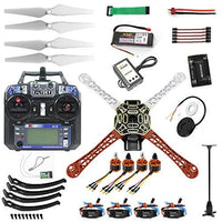 QWinOut DIY F450 450mm Airframe 2.4G 6CH RC Quadcopter ARF Combo Full Set Drone with GPS APM2.8 Flight Controller (All Parts Included for Ready to Fly, Unassembly)