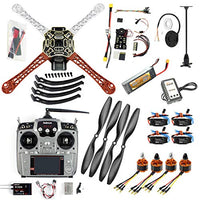 QWinOut DIY FPV Drone Quadcopter 4-axle Aircraft Kit :F450 Frame + PXI PX4 Flight Control + 920KV Motor + GPS + AT10 Transmitter + Props
