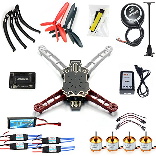 QWinOut RC Drone Quadrocopter 4-axis Aircraft Kit Q330 Across Frame + 6M GPS + APM 2.8 Flight Control (No Transmitter)