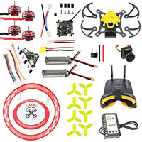 QWinOut T85 Frame DIY Quadcopter with 9000KV CW CCW Motors Crazybee F4 4 in1 FC 1.5inch 3-Blade Propellers 450MAH Battery (Yellow)