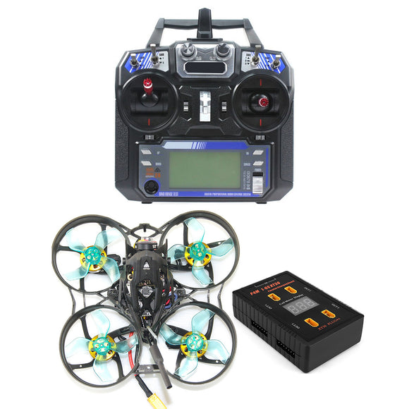 GEELANG ANGER 75X Whoop 3-4S FPV Racing Drone Quadcopter RTF with Flysky FS-i6 Remote Controller XT30 Parallel Charging Board