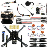 QWinOut DIY FPV Drone Kit  Welded S600 4 axle Aerial Quadcopter Unassembled w/ Pix2.4.8 Flight Control GPS 7M 40A ESC 700kv Motor AT9S
