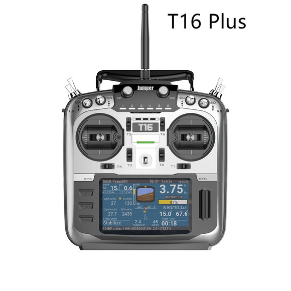 Jumper T16 Plus with HALL Gimbals Open Source Multi-protocol Radio Transmitter JP4-in-1 RF Module 2.4G 16CH 4.3