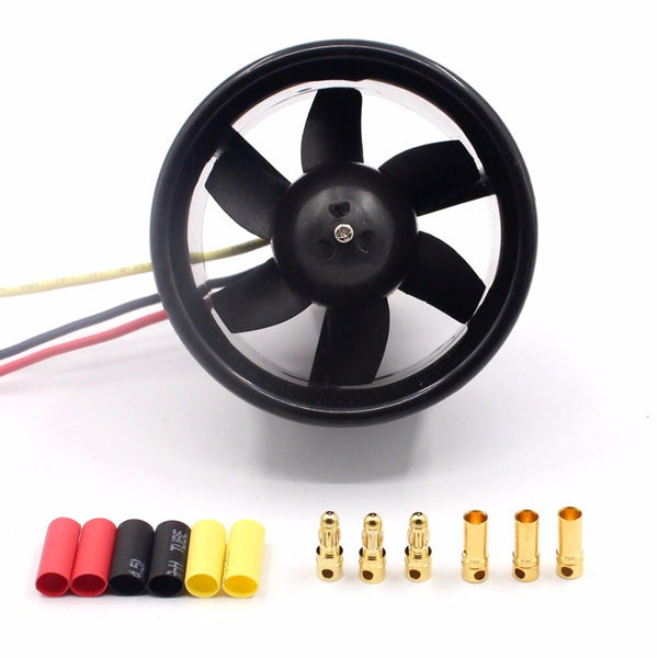 55mm/64mm 6/5  EDF Ducted Fan with QF2611 3500KV/4500KV  Brushless Motor for RC Drone Ducted F22128