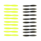LDARC 65mm-2 Blade Paddle 2.5 inch / 3 inch Aperture 1.5m 10 Pairs of 5 pairs Transparent Black 5 pairs Bright Green Propellers
