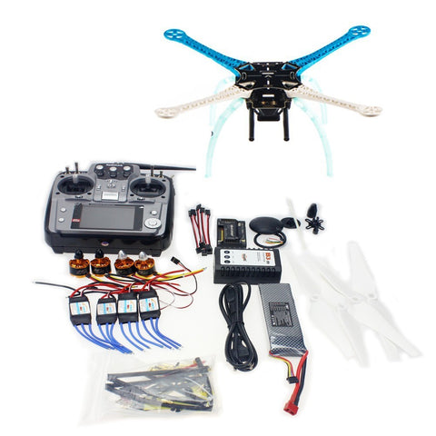 QWinOut S500 PCB DIY GPS Drone Multi-Rotor Frame Full Kit APM2.8 Radiolonk 2.4G AT10 TX&RX Motor ESC