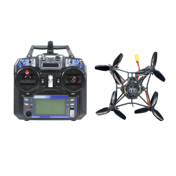 Happymodel Larva X 2-3S 2.5inch Brushless FPV Racing Drone RTF 100mm Wheelbase Crazybee F4 PRO V3.0 AIO Flight Controller Camera Angle Adjustable 25mw~200mw VTX FS-i6 Radio Controller