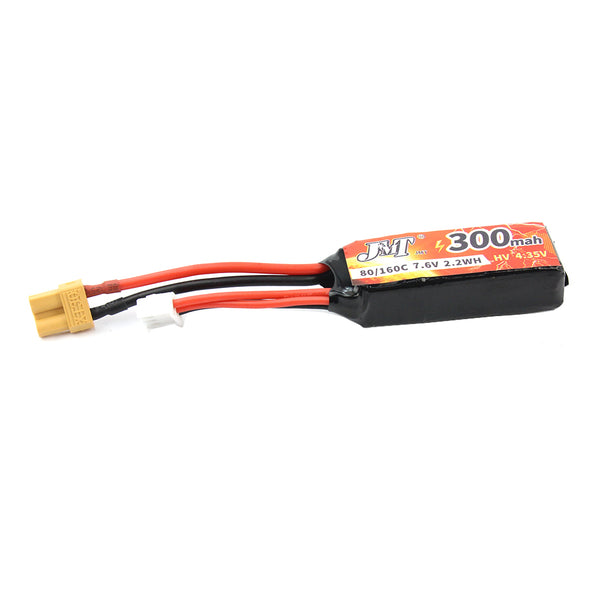 Happymodel 2S 300mah 7.6V XT30 Lipo Battery With Mobula7 V3 75mm Frame for Mobula 7 FPV Racing Drone Quadcopter 75mm Bwhoop75 Brushless Whoop