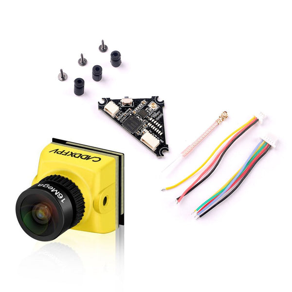 Caddx.us Baby Ratel Mini FPV Camera 1200TVL 1/1.8'' Starlight HDR 14*14mm with Whoop_VTX 40ch VTX for FPV Racing Drone Toothpick