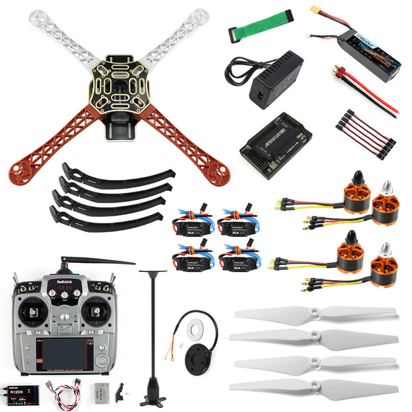 QWinOut 4-axle Aircraft RC Quadrocopter Helicopter RTF F450-V2 Frame GPS APM2.8 AT10 TX/RX Battery