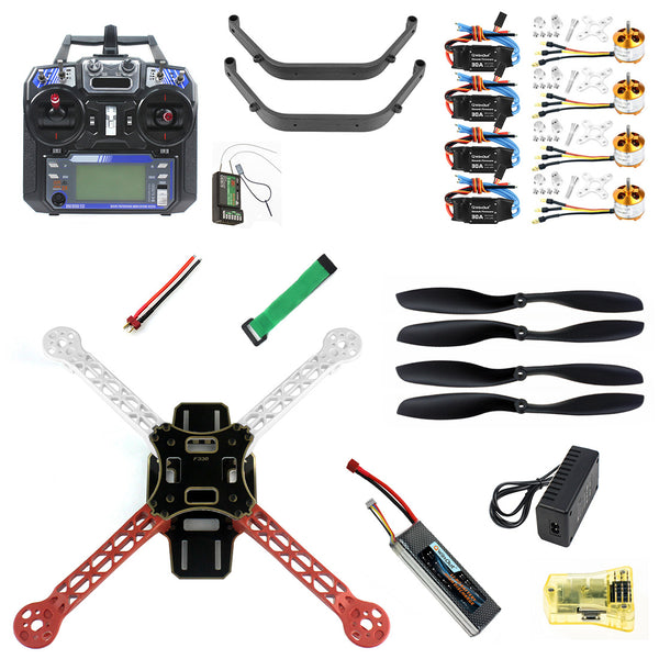 QWinOut Full Kit DIY RC Drone Quadrocopter Aircraft Kit F330 MultiCopter Frame MINI CC3D Flight Control FS-i6 TX Accessory