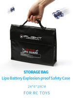 iFlight Lipo Guard Lithium Battery Explosion-Proof Bag Portable Carrying Bag for 3S 4S Battery FPV Racing Drone Accessories 240MMx65MMx180MM
