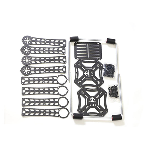 QWinOut 4-axis Carbon Fiber Airframe Unssembled 380mm Frame Kit with Landing Gear for DIY Drone Quadcopter