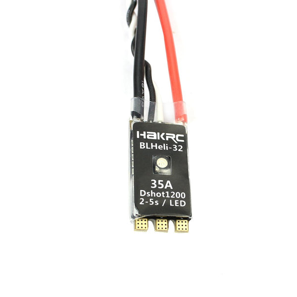 HAKRC BLHeli_32 35A ESC DShot1200 Multishot Mini ESC Speed Controller 2-5S Integrated LED for RC Quadcopter FPV Racing Drone