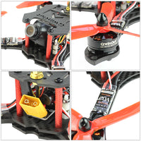QWinOut Three1 210mm RTF FPV Quadcopter Racing Drone Mini Racer with Flysky FS I6 Transmitter OMNIBUS F4 Pro(V2) Flight Controller