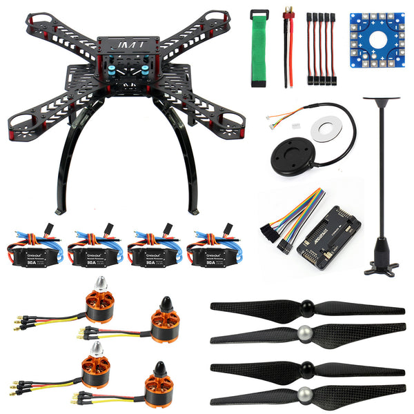QWinOut DIY RC Drone Quadrocopter X4M360L Rahmen Kit:GPS + APM 2.8 Flight Control + Brushless Motor + Brushless ESC + GPS Folding Antenna Mount Holder