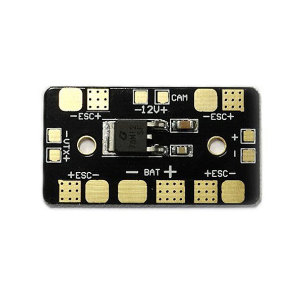 QWinOut Mini PDB Power Distribution Board 12V Linear Regulator LDO 12V For FPV Racing Drone Quadcopter