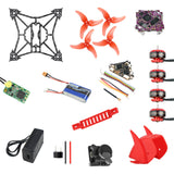QWinOut T100 DIY FPV Racing Drone ARF Kit with Supra F4-12A F4 Flight Control EX1103 2-4S Motor Razer Micro FPV Camera Frsky XM+ Receiver