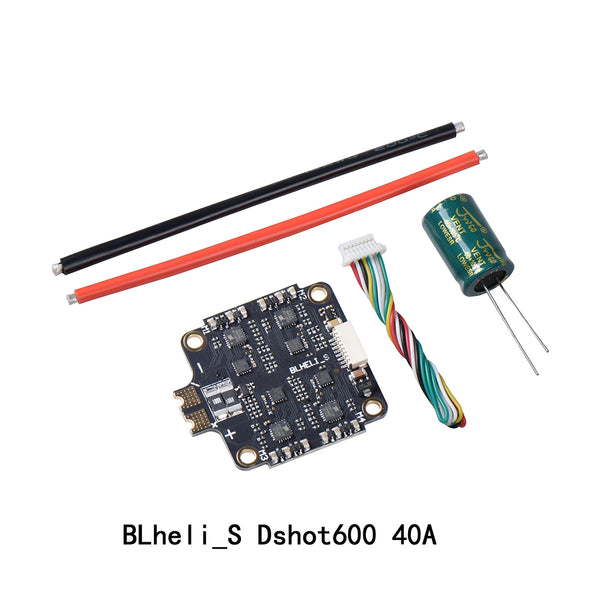QWinOut BLHELI_S 40A 55A 2S-6S 4 in 1 ESC Dshot600 Electronic Speed Controller for DIY FPV Racing Drone