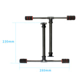 QWinOut Carbon Fiber T Type Quick Install Tall Landing Gear Skid for FPV Wheelbase 700MM RC Quadcopter Drone S550 X650 S680