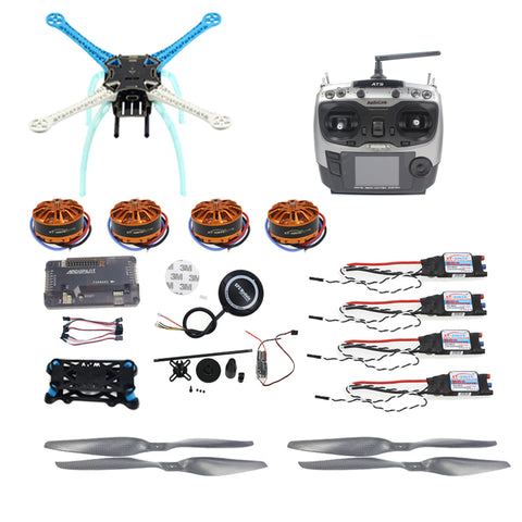 QWinOut APM2.8 DIY GPS Drone S500 PCB 500mm Multi-Rotor with 700KV Motor 30A ESC 6CH 9CH Transmitter NO Battery Charger