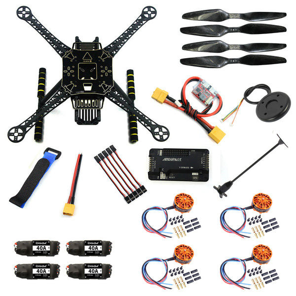 QWinOut DIY RC Aircraft FPV Drone S600 Quadcopter Frame Kit with APM 2.8 Flight Control 40A ESC 700KV Motor GPS XT60 Plug