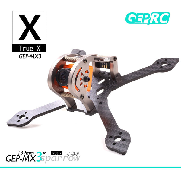 GEPRC GEP-MX3 139mm Carbon Fiber 3mm Arm FPV Racing Frame Sparrow Postive X Frame Kit for DIY RC Quadcopter Racer FPV Racing Drone