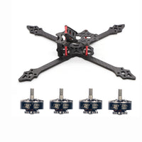QWinOut FPV Racing Drone XSR220 220mm Frame Kit With 2306-2400kv 3-4S Brushless Motor for RC Racer Quadcopter DIY Aircraft