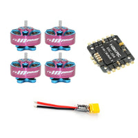 QWinOut DIY RC Drone Motor ESC Combo Kit 20A 4 In 1 ESC with 4pcs 1204 5000KV 3-4S Motor XT30 Plug for FPV Racing Drone Quadcopter