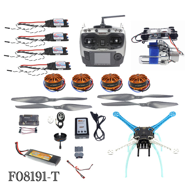 QWinOut High-powered DIY GPS Drone S500 PCB APM GPS M8N 700KV 30A 4400MAH 30C 4-Axis Aircraft Racer with Camera Gimbal PTZ
