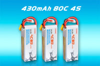 LDARC 14.8V 430mAh 80C 4S Lipo Battery for ET85 Beta85X FPV Racing Drone Quadcopter Cinewhoop