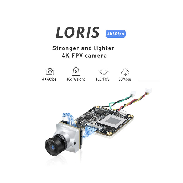 Caddx.us Loris 4K FPV DVR Camera NTSC/PAL Adjustable with OSD for FPV Racing Drone Aircraft Fixed Wing Aerial Photography