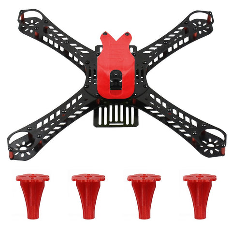 JMT Mini Racing Drone Frame Kit 310/360/380mm Rack 3D Print 19mm FPV Camera Canopy Cover & Tripod Landing for DIY RC Quadcopter
