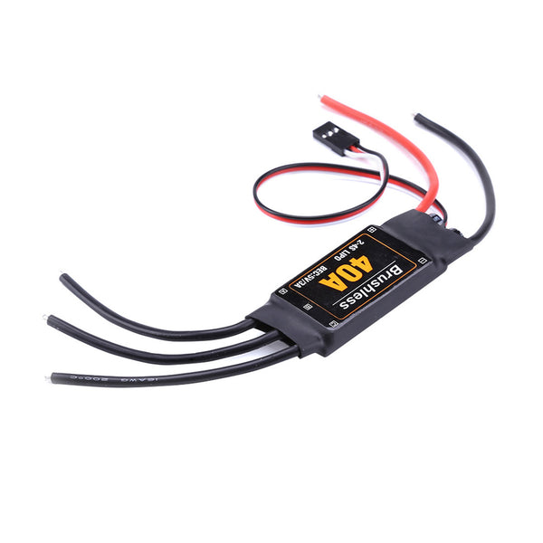 Feichao 40A Brushless ESC 2-4S Speed Controller with 5V 3A BEC for Fixed Wing DIY RC Multi-axis Aircraft Drone Helicopter