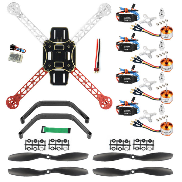 QWinOut DIY RC Drone Quadrocopter 4-axis Aircraft Kit F330 MultiCopter Frame QQ Super Flight Controller No Transmitter No Battery
